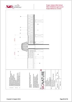 School Roof Survey Report Drawing