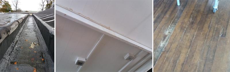 Academy School Roof Leaking Gutter