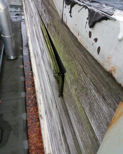 Academy School Roof failed cladding