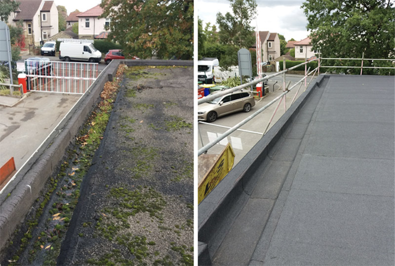 Flat Roof Replacement - No More Leaking Gutters!