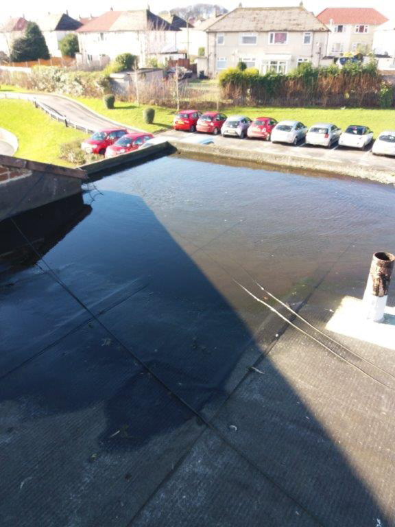 badly designed roof drainage