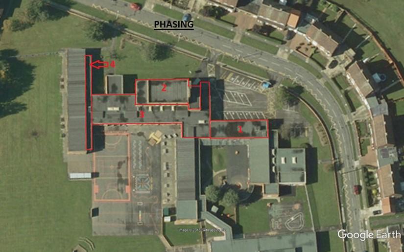 school roof refurbishment phasing